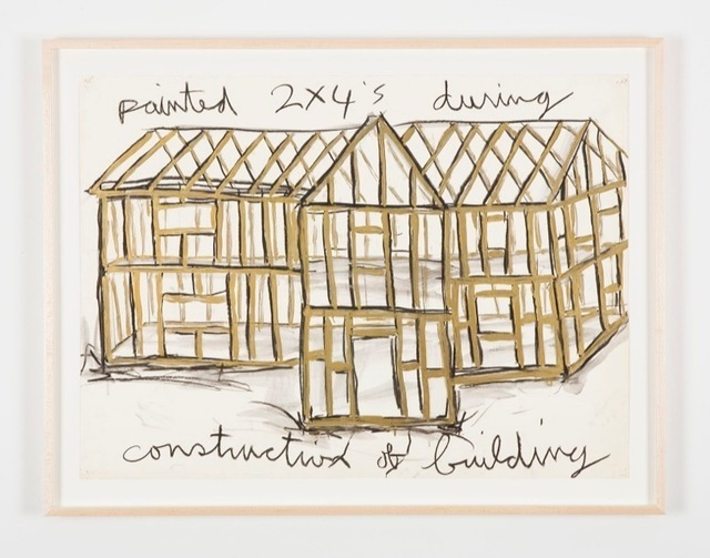 , 'Painted 2x4's during construction of building (gold),' 1984, Perrotin