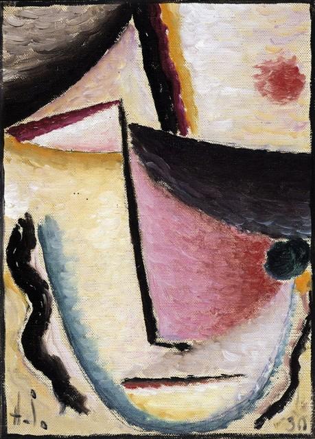 , 'Abstrakter Kopf: Schräge Augen (Abstract Head: Slanted Eyes),' 1930, Galerie Thomas