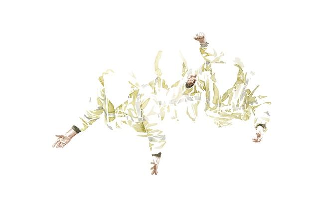 , 'Untitled (gelbe Jacken),' 2018, Evelyn Drewes Galerie