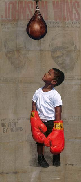 Richard Wilson Jr., 'Jack Johnson', 2018, Print, Giclee, Gugsa Black Arts Collective