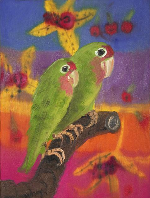 , 'Two Lovebirds (Purple Sunset with Cherries), 2018,' 2018, Maccarone