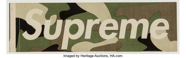 Supreme, 'Green Camo Sticker', c. 1995, Heritage Auctions