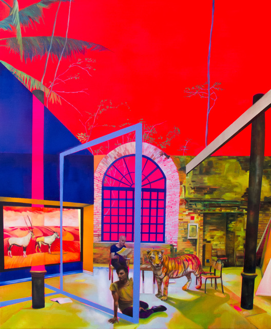 , 'A Biennale and the Tiger,' 2018, Yavuz Gallery