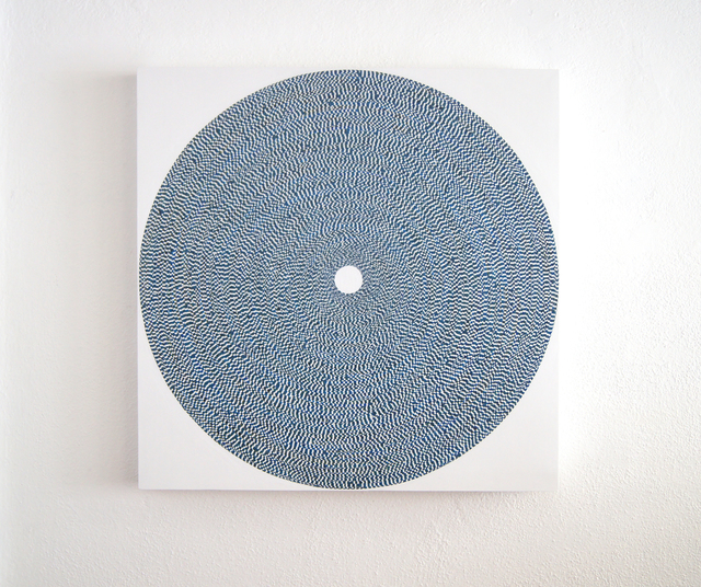 Yong Sin, 'Circle No. 1685', 2019, Painting, Acrylic on Tape over Panel, Timothy Yarger Fine Art