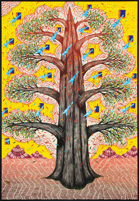 , 'Majestic Tree, Golden Facade (Purple Mountains),' 2018, Galerie Droste