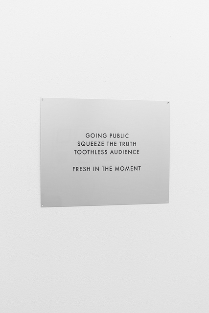, 'Post-Sensitive Rhetorics,' 2011, Belenius