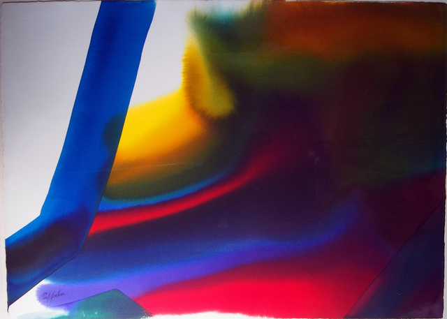 Paul Jenkins, 'Phenomena a Bar of Blue  ', 1987, Judy Ferrara Gallery
