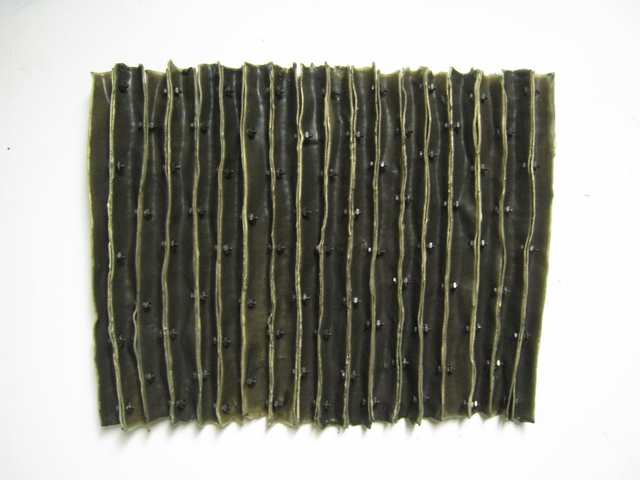 Brenda Mallory, 'Constrain to Vertical #11', 2010, Mixed Media, Waxed cloth, nuts & bolts, Julie Nester Gallery