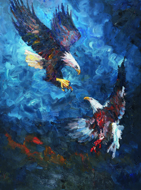 , 'Two Eagles,' 2017, Lorenzelli arte