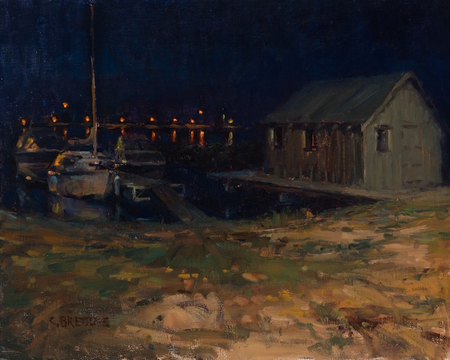 , 'Fishing Shack at Night, Grand Marais,' 2015, Grenning Gallery