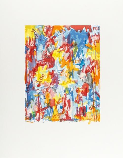 Jasper Johns, 'False Start I (facsimile print)', ca. 1975, Print, Hand fed offset proofing press on Rives BFK paper, EHC Fine Art Gallery Auction