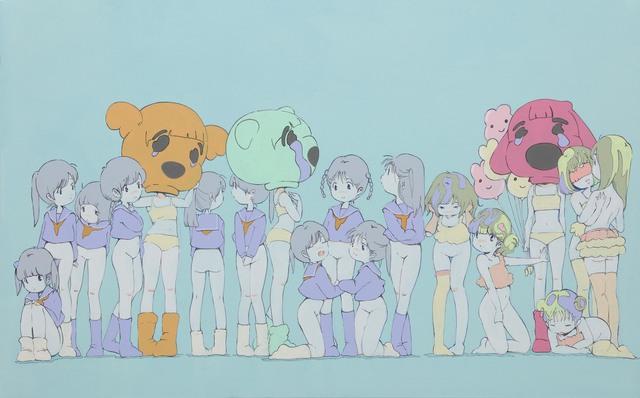 Kato Ai, 'Blue Wall–Not interested in you–', 2015, Mizuma Art Gallery