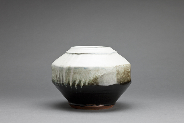 , 'Vase, black and white glazes,' 2015, Pucker Gallery