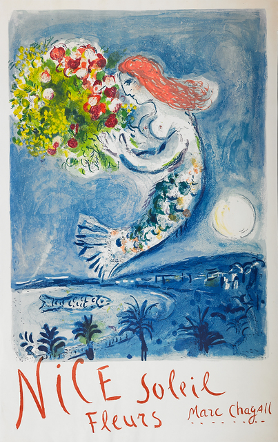Marc Chagall, 'The Bay of Angels', 1962, Print, Lithographic poster in colors, Rago/Wright
