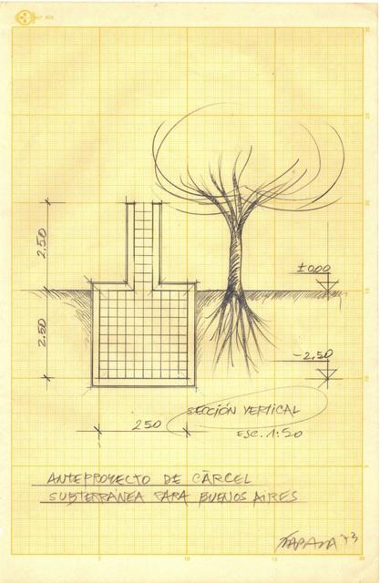 , 'Anteproyecto de Cárcel Subterránea para Buenos Aires,' 1973, Henrique Faria Fine Art