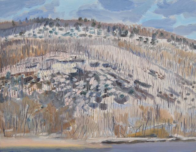 , 'Winter Trees on Hill from Brattleboro,' 2018, Canal Street Art Gallery