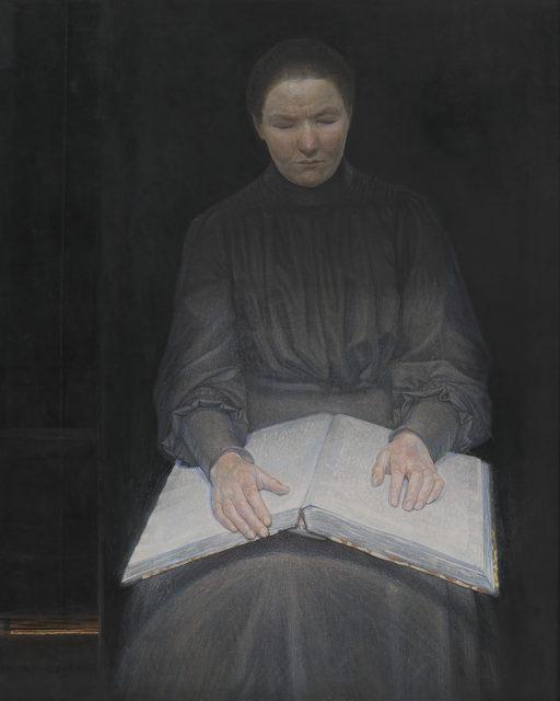 Ejnar Nielsen, 'A Blind Girl Reading', 1905, Painting, Statens Museum for Kunst