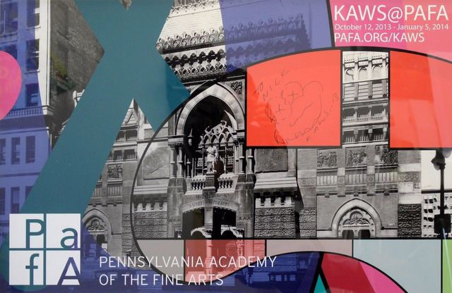 KAWS, 'Unique Ink Signed Sketch on PAFA', 2013, Kunzt Gallery