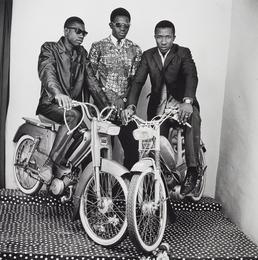 Malick Sidibé, 'Les Trois Amis avec Moto,' 1975, Phillips: Photographs