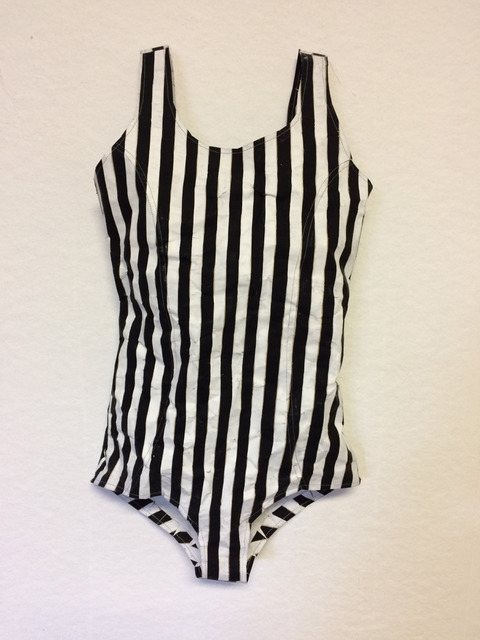 , 'Black and White Striped Swimsuit,' 2018, Friesen Gallery