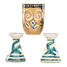 Small vase and two candlesticks