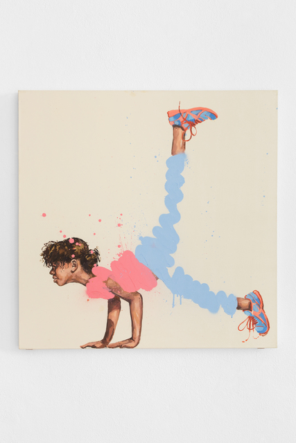 Ernest Zacharevic, 'Bending Over Backwards #4', 2019, Underdogs Gallery