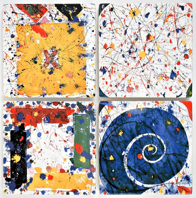Sam Francis, 'Suite of Four Limited Edition Ceramic Plates ', ca. 2000, Alpha 137 Gallery