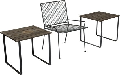 Outdoor Chair and Two Tables from Craig Ellwood's Hunt House