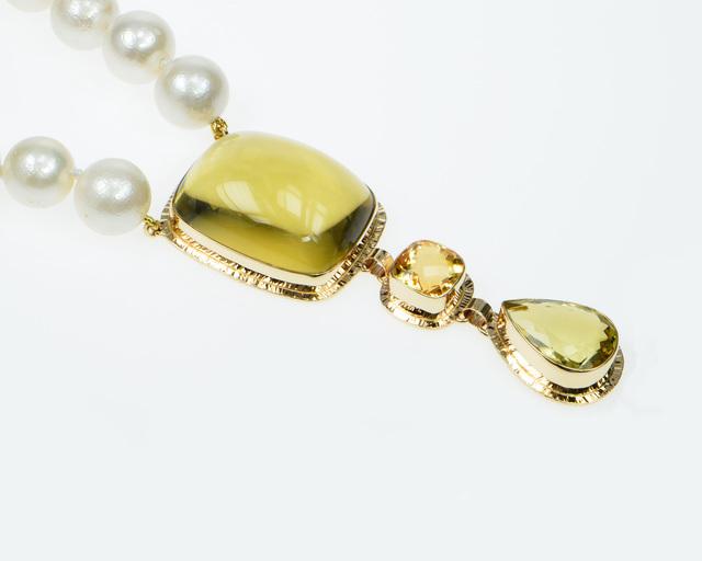 , 'Lemon & Honey Citrine with White Freshwater Pearl necklace,' , Miller White Fine Arts