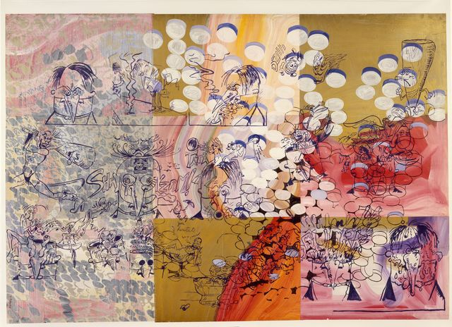 Sigmar Polke, 'Pille', 1976, Painting, Gouache, metallic, enamel, and acrylic paints on paper and canvas, Museum Ludwig