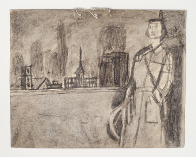 , 'Untitled (Uniformed figure in landscape),' n.d., Fleisher/Ollman