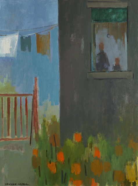 , 'Clothesline and Flowers,' 1970, Debra Force Fine Art