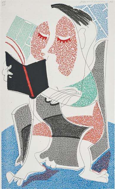 David Hockney, 'Man Reading Stendhal, July 1986', 1986, Phillips