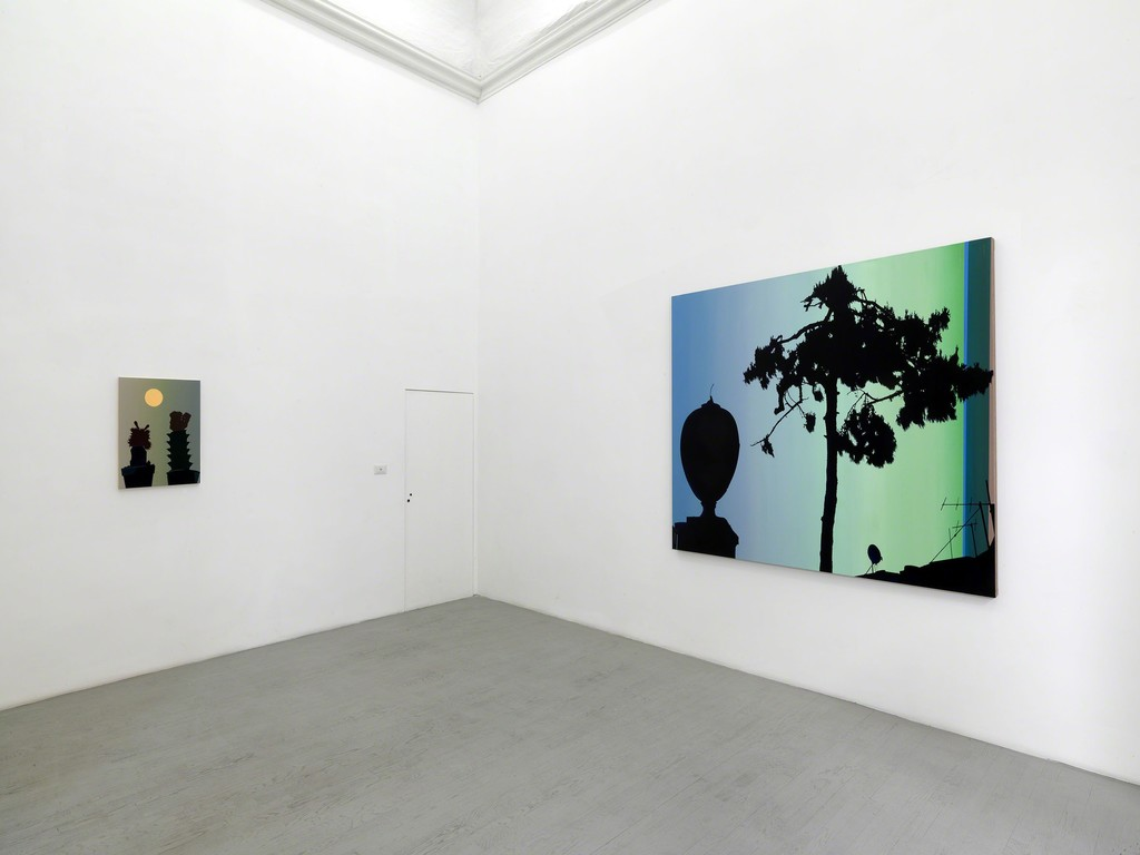 Glen Rubsamen, Gleaming and Inaccessible, Partial view of the exhibition, September 2017, Galleria Alfonso Artiaco, Napoli, Photo: Luciano Romano