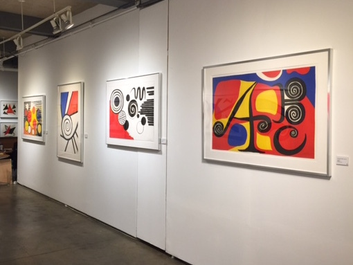 Lithographs by Alexander Calder (from left to right) 