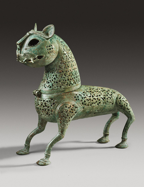 , 'Openwork incense burner in the shape of a lion, Islamic, Eastern Persia-Khorasan,' 11th century A.D., Phoenix Ancient Art