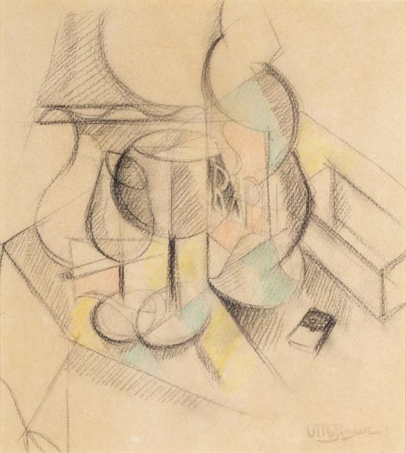 , 'Deux verres et bouteille de Saint-Raphael,' 1917, Galeria Marc Domenech