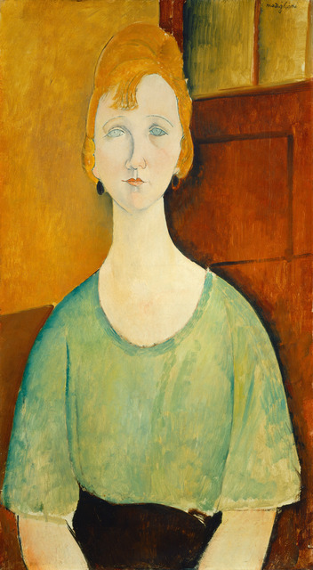 Amedeo Modigliani, 'Girl in a Green Blouse', 1917, National Gallery of Art, Washington, D.C.