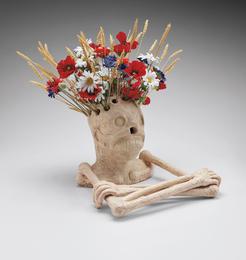 Untitled (skeleton vase)