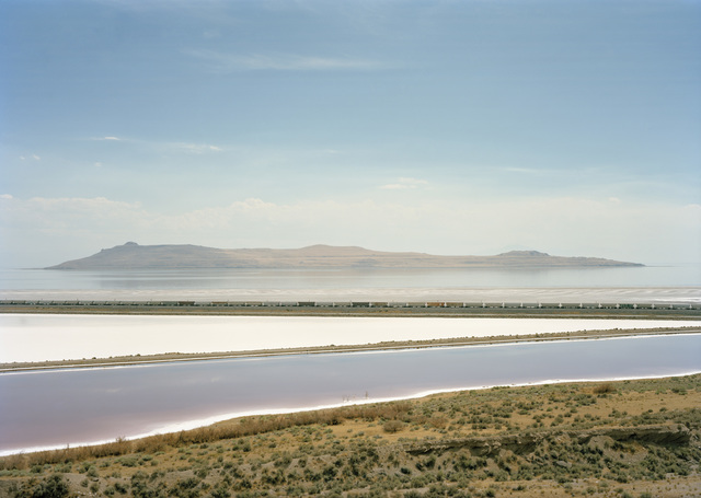 , 'Untitled (train crossing Great Salt Lake, Utah),' 2016, Yancey Richardson Gallery