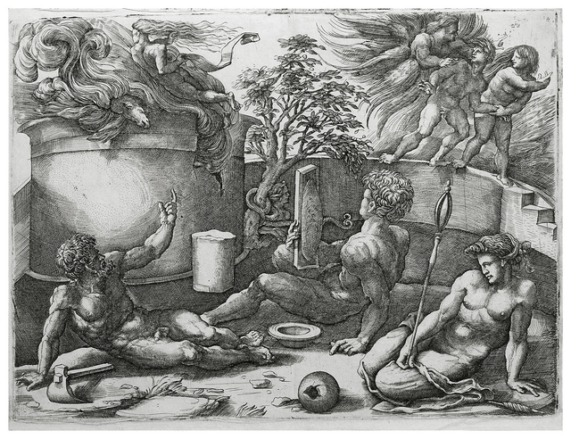 , 'EXPULSION OF ADAM AND EVE FROM PARADISE,' ca. 1545, Stanza Del Borgo