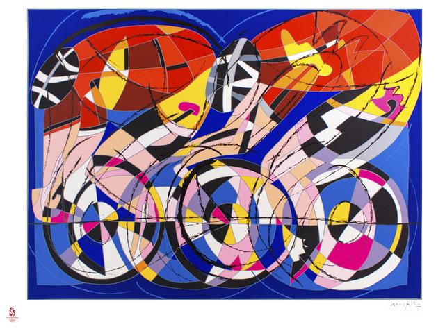 Ugo Nespolo, 'Bikers', 2008, Wallector