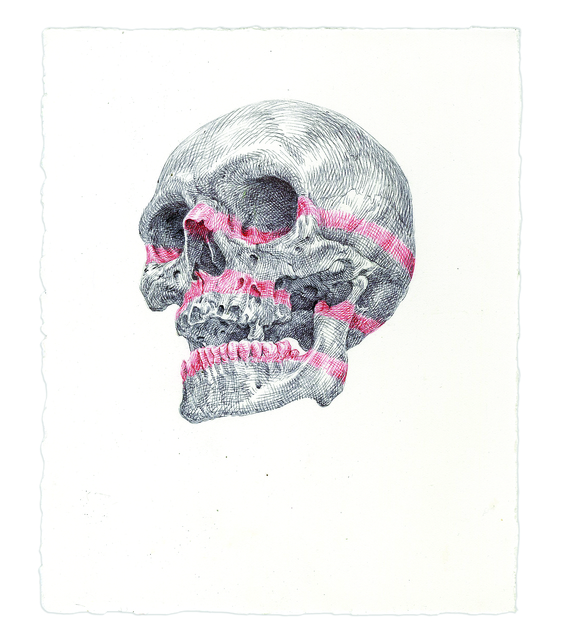 , 'Red Striped Skull,' 2016, Subliminal Projects