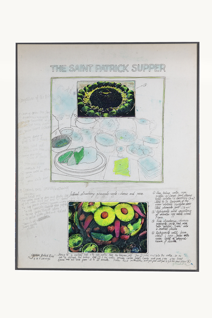 Antoni Miralda, 'The Saint Patrick Supper', Collage-pencil and photocopies, Henrique Faria Fine Art