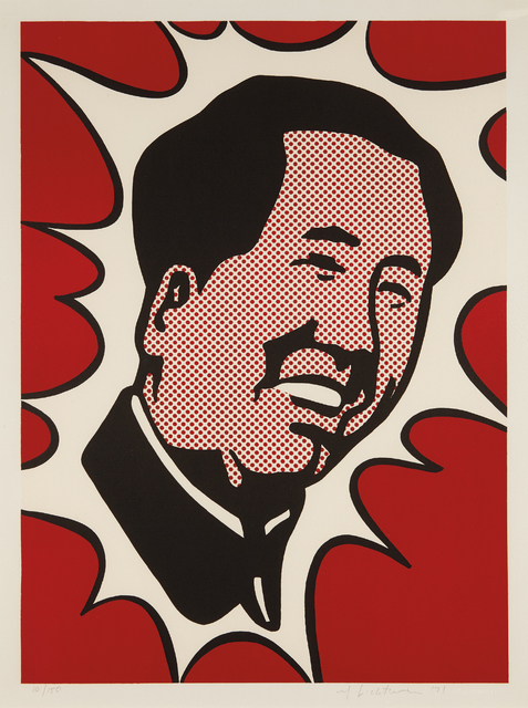 Roy Lichtenstein, 'Mao', 1971, Print, Lithograph in colors, on Arches paper, with full margins, accompanied by the deluxe hard-cover book The Adventures of Mao on the Long March by Frederic Tuten, Phillips