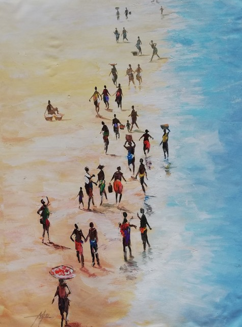 Godwin Adjei Sowah, 'Tuesdays at the Beach without fishingboat', 2019, TO LIVE IS TO CHOOSE