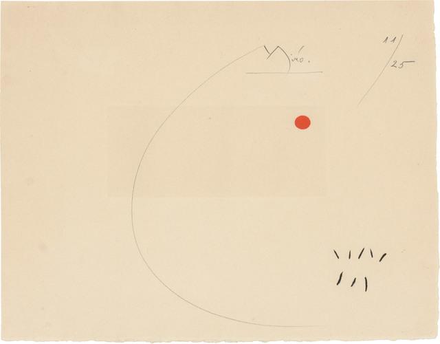 Joan Miró, 'SANS LE SOLEIL (SEE DUPIN 408; SEE CRAMER BOOKS 98)', 1965, Doyle
