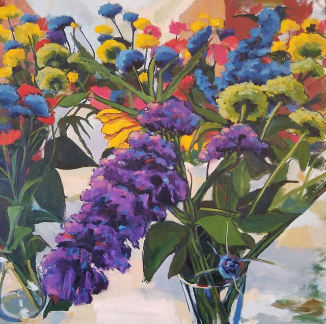 Jenn Hallgren, 'Cassie's Garden ', 2018, Painting, Oil on canvas, InLiquid