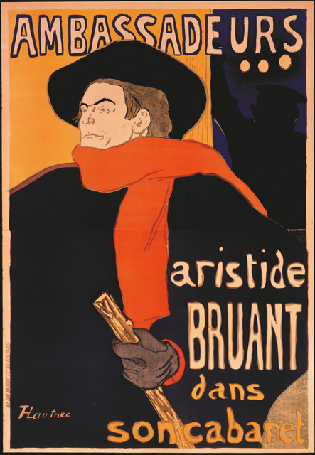 , 'Ambassadeurs: Aristide Bruant ,' 1892, Montreal Museum of Fine Arts