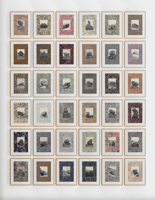 Elena Damiani, 'The Erratic Marbles ', 2014, Drawing, Collage or other Work on Paper, Series of 32 collages. Digital print on found pages and Gliceé print on Hahnemühle Museum Etching paper 350g, Revolver Galería